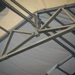 estrutura de aço galvanizado do galpão de lona sansuy